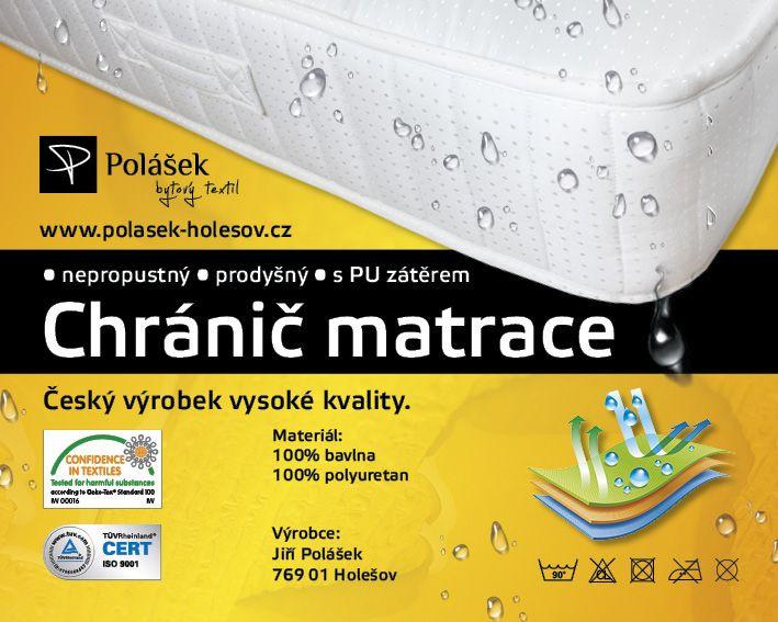 Nepropustné napínací jersey prostěradlo sv. žlutá 90x200 cm