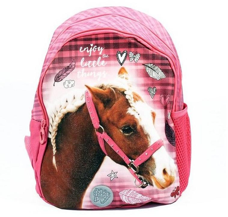 Dětský batůžek Nice and Pretty Kůň růžový 29 cm