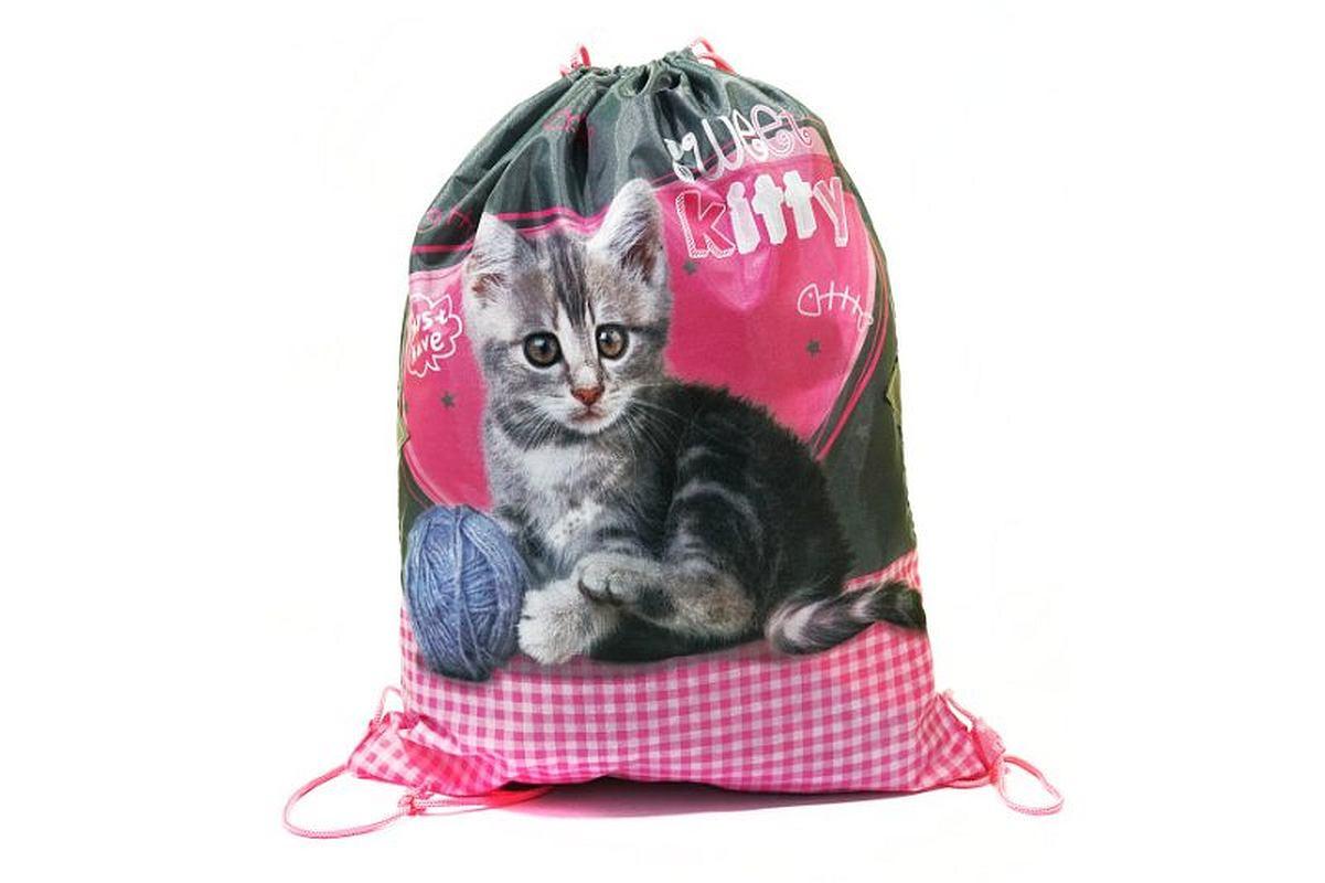 Taška na tělocvik a přezůvky Sweet Pets Koťátko Polyester, 34x43 cm