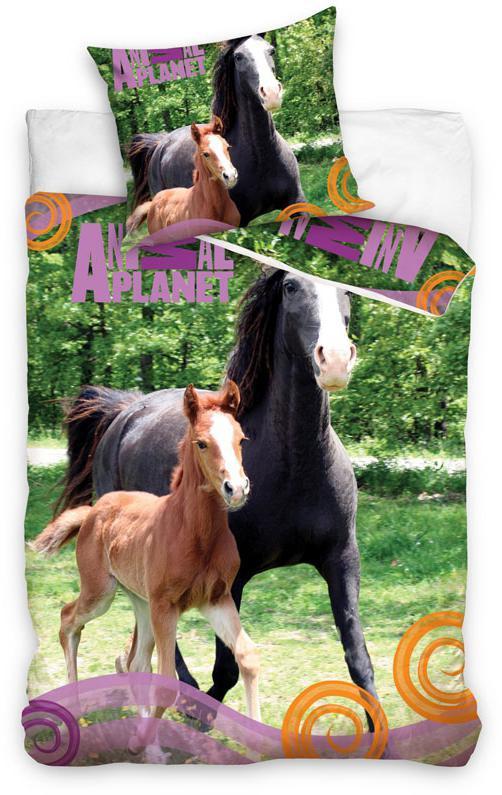 Povlečení Animal Planet Koně u lesa 140x200, 70x90 cm