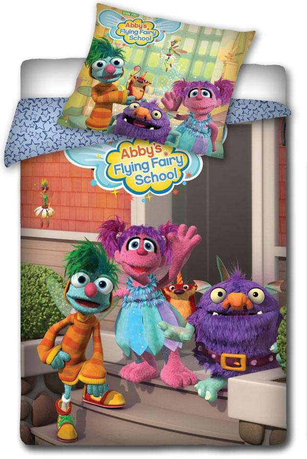 Povlečení Sesame Street School 140x200, 70x80 cm