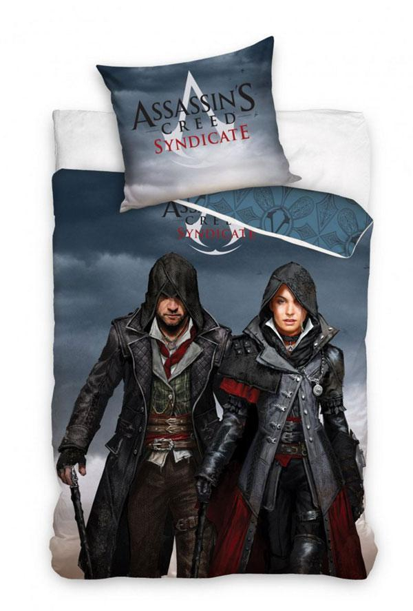 Povlečení Assassin´s Creed Syndicate Jacob a Evie 140x200, 70x80 cm