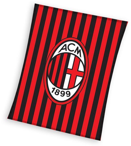 Fleece deka AC Milán pruhy 110x140