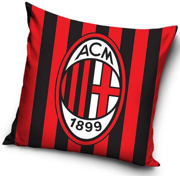 Povlak na polštářek AC Milán pruhy 40x40 cm