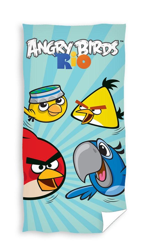 Osuška Angry Birds Rio Blue 70x140 cm