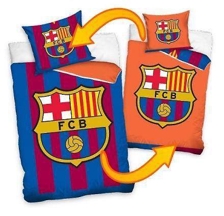 Povlečení Barcelona znak 2v1 oranžová 140x200