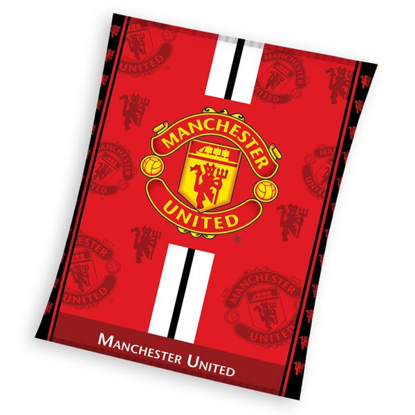 Mikropolar fleece deka Manchester United 130x170