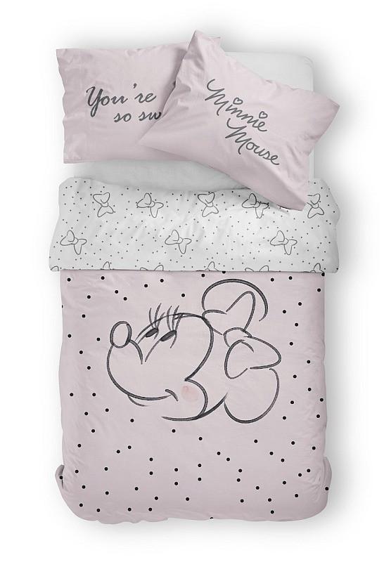 Povlečení Minnie růžová Bavlna 140x200, 70x80 cm
