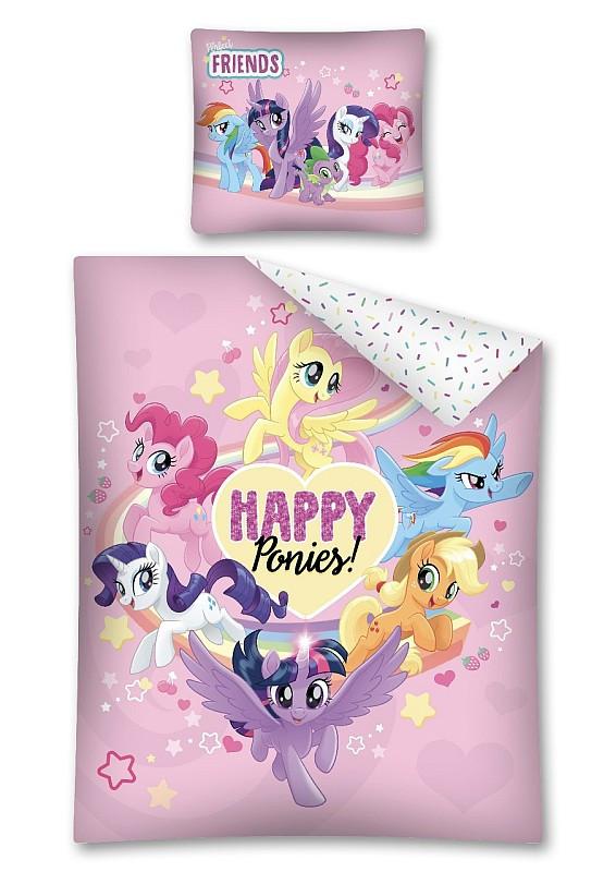 Povlečení My Little Pony Happy Bavlna 140x200, 70x80 cm