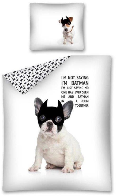 Povlečení Pes Batman 140x200, 70x80 cm