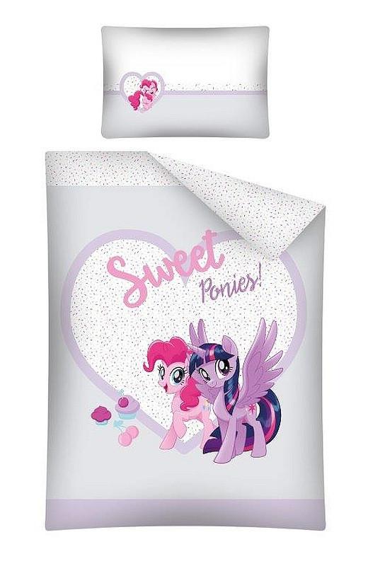 Povlečení do postýlky My Little Pony Sweet Bavlna 100x135, 40x60 cm