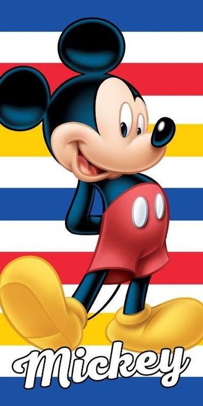 DETEXPOL Osuška Mickey pruhy  Bavlna - Froté, 70x140 cm