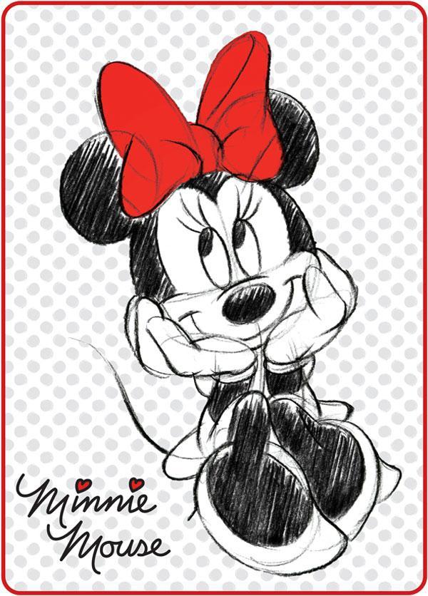 Španělská deka Minnie černobílá 80x110