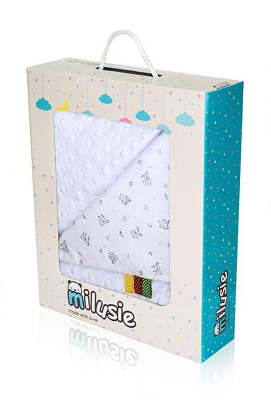 Dětská deka Minky bílá 75x100 cm