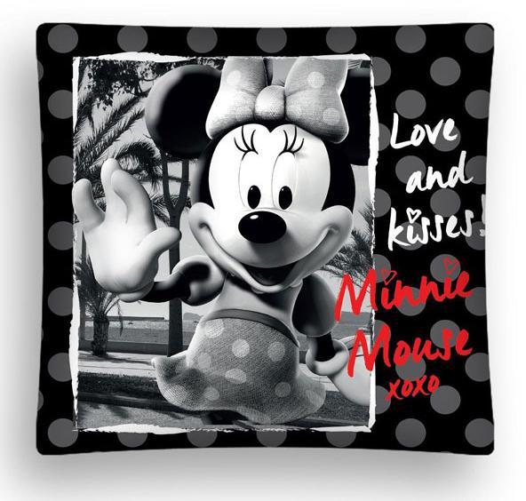 Povlak na polštářek Minnie black micro 40x40 cm