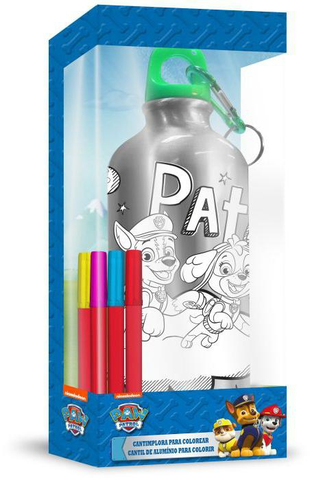ALU láhev s víčkem Paw Patrol k domalování