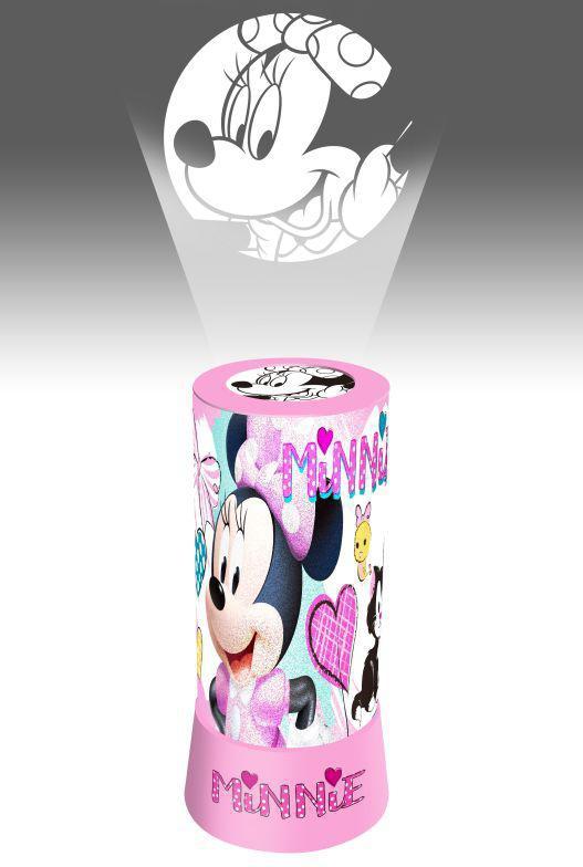 LED projektor Lampička Minnie hearts