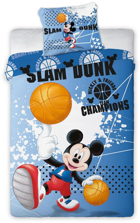 Povlečení Mickey basketball 140x200, 70x90 cm