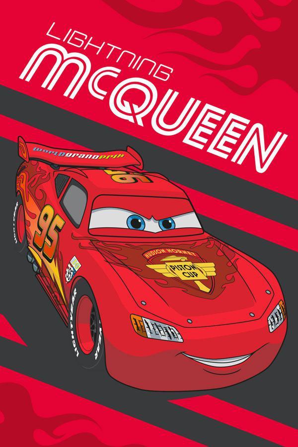 Dětský ručník Cars Blesk McQueen 60x40 cm