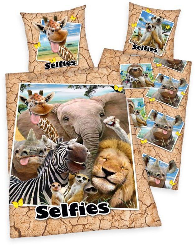 Povlečení ZOO Selfie 140x200, 70x90 cm