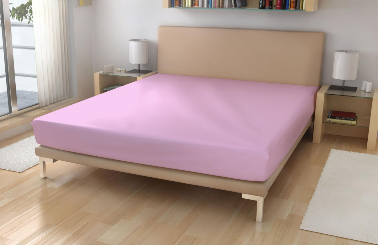 Jersey prostěradlo EXKLUSIVE Světle růžová 90x200 cm
