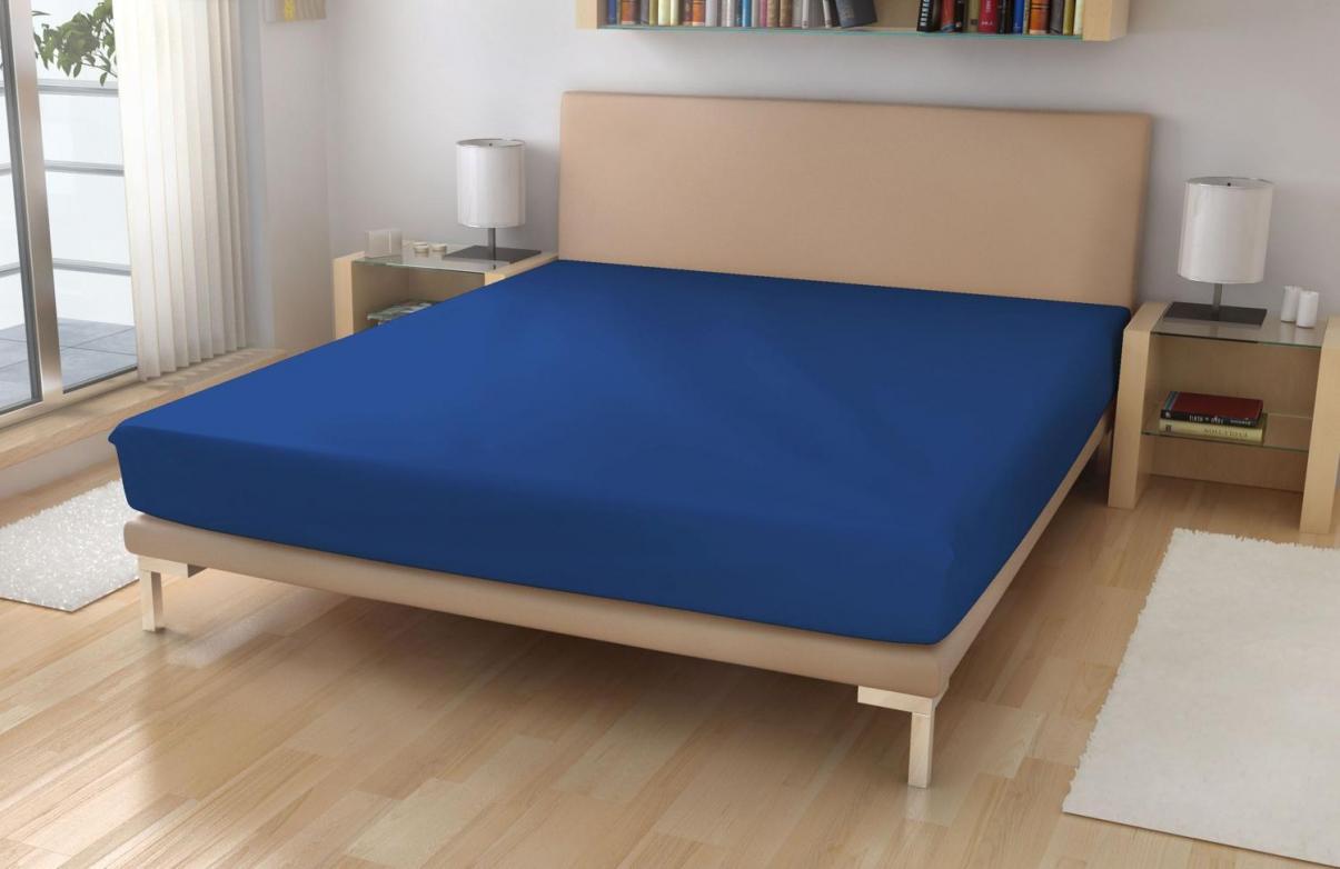 Froté prostěradlo EXKLUSIVE Tmavě modrá 90x200 cm