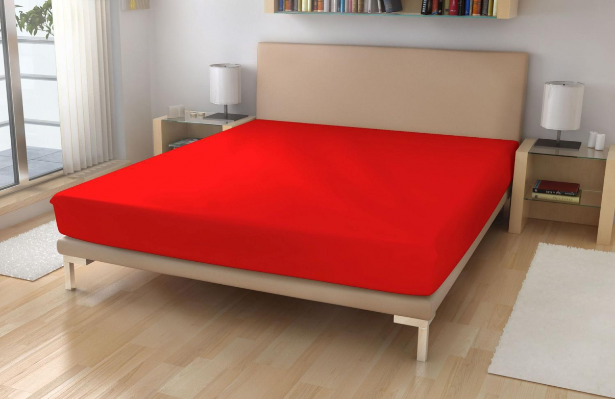 Froté prostěradlo EXKLUSIVE Červená 90x200 cm