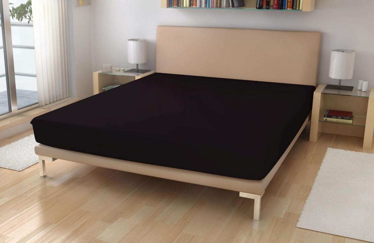 Froté prostěradlo EXKLUSIVE Černá 90x200 cm