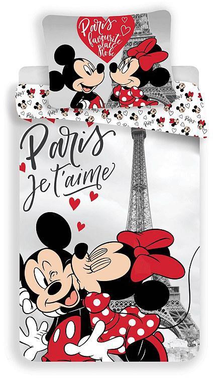 Povlečení Mickey a Minnie Paříž Eiffelova věž 140x200, 70x90 cm