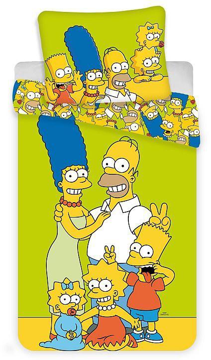 Povlečení Simpsons Family green 140x200, 70x90 cm