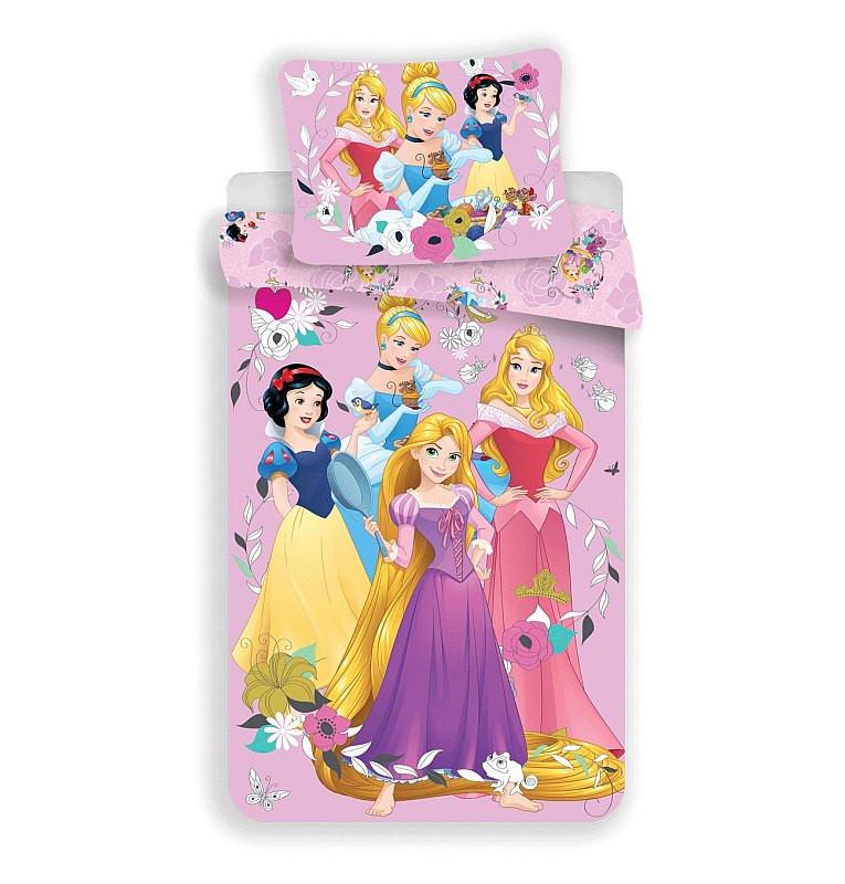 Povlečení Princess pink 02 Bavlna 140x200, 70x90 cm