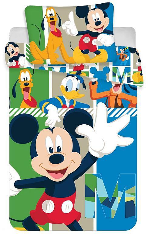 Povlečení do postýlky Mickey baby 100x135, 40x60 cm