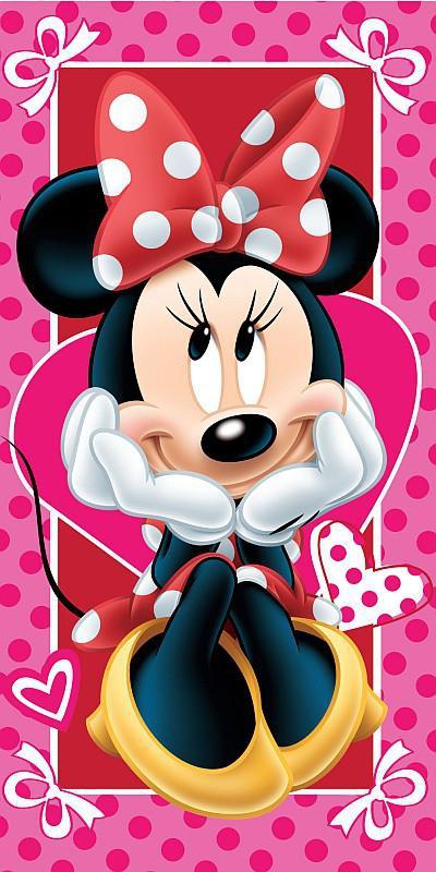 Osuška Minnie hearts 02 70x140 cm