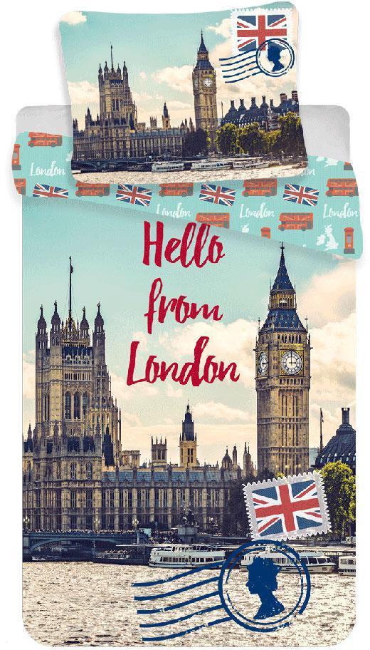 Povlečení Londýn Hello 140x200, 70x90 cm