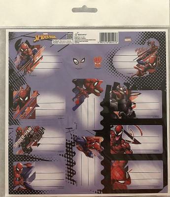 Samolepící jmenovky Spiderman Papír, 20x20 cm