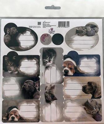 Samolepící jmenovky Sweet Pets Papír, 20x20 cm