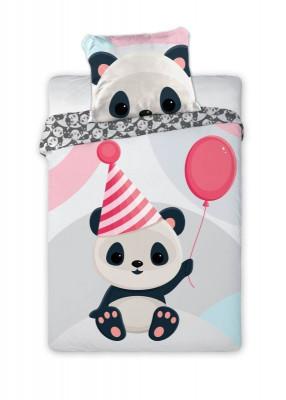 Povlečení do postýlky Panda 100x135, 40x60 cm