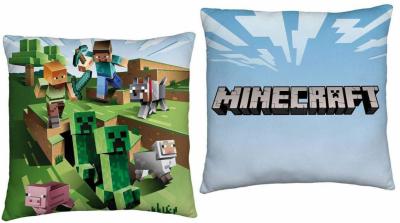 HALANTEX Polštářek Minecraft Farma  Polyester, 40/40 cm