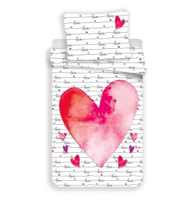 JERRY FABRICS Povlečení Love  Bavlna, 140/200, 70/90 cm